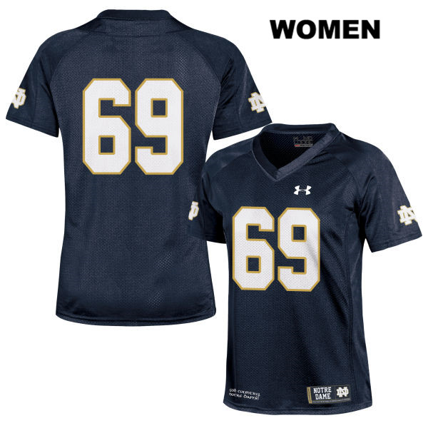Aaron Banks Under Armour Notre Dame Fighting Irish no. 69 Womens Navy Stitched Authentic College Football Jersey - Aaron Banks Jersey