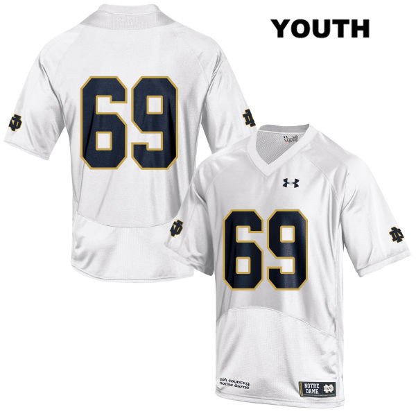 Aaron Banks Notre Dame Fighting Irish Stitched Under Armour no. 69 Youth White Authentic College Football Jersey - Aaron Banks Jersey