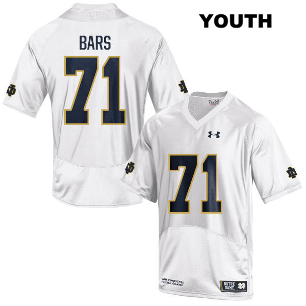 3de189cf1 Alex Bars Notre Dame Fighting Irish Stitched no. 71 Youth Under Armour White  Authentic College Football Jersey - With Name - Fighting Irish Football  Fanatic
