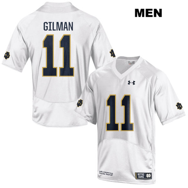 Stitched Alohi Gilman Notre Dame Fighting Irish no. 11 Under Armour Mens White Authentic College Football Jersey - Alohi Gilman Jersey