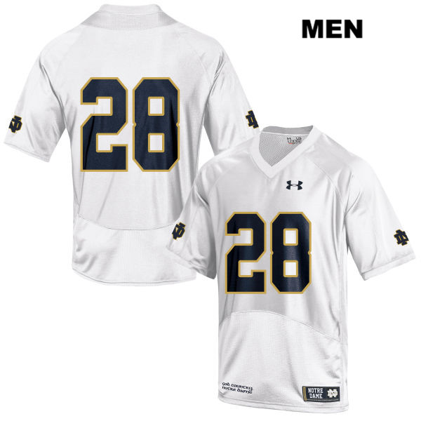 Austin Ross Notre Dame Fighting Irish Stitched no. 28 Mens Under Armour White Authentic College Football Jersey