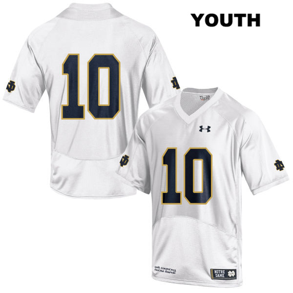 Chris Finke Notre Dame Fighting Irish Stitched no. 10 Youth White Under Armour Authentic College Football Jersey - Chris Finke Jersey