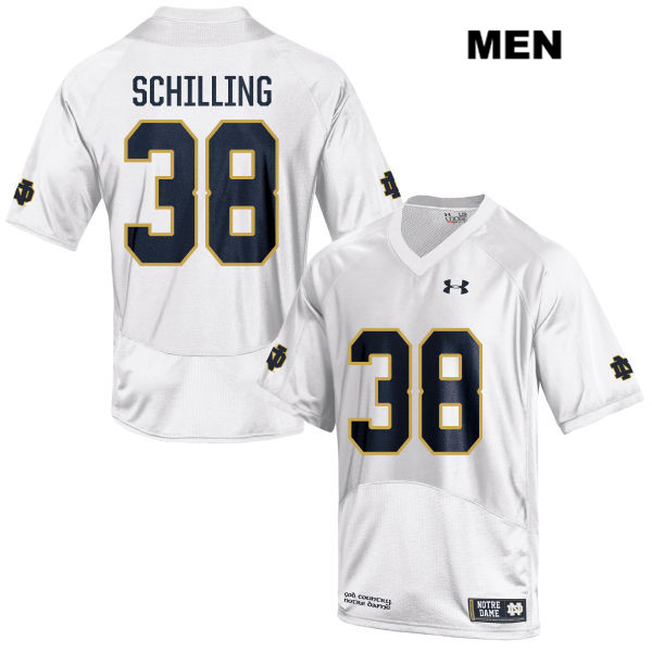 Christopher Schilling Notre Dame Fighting Irish Under Armour no. 38 Stitched Mens White Authentic College Football Jersey - With Name - Christopher Schilling Jersey