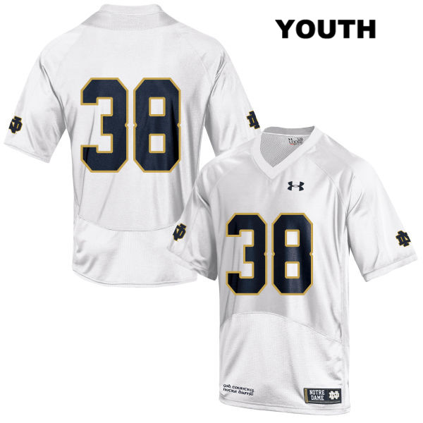 Christopher Schilling Stitched Notre Dame Fighting Irish no. 38 Youth White Under Armour Authentic College Football Jersey - Christopher Schilling Jersey