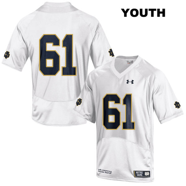 Under Armour Colin Grunhard Notre Dame Fighting Irish no. 61 Youth White Stitched Authentic College Football Jersey - Colin Grunhard Jersey
