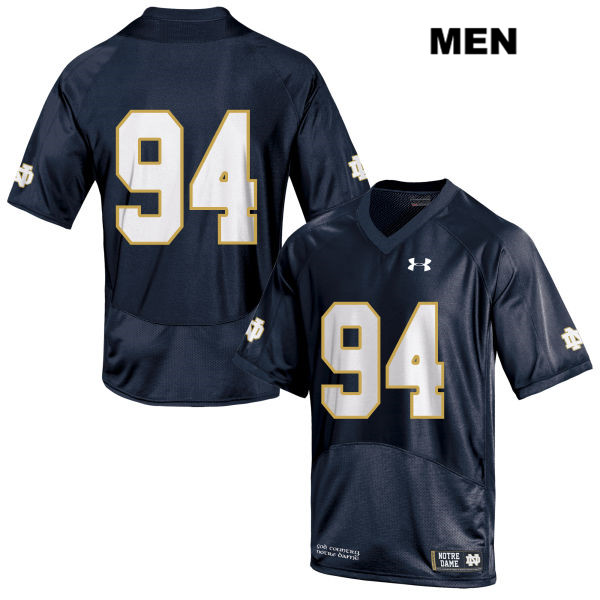 Darnell Ewell Stitched Under Armour Notre Dame Fighting Irish no. 94 Mens Navy Authentic College Football Jersey - Darnell Ewell Jersey