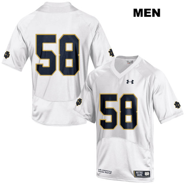Darnell Ewell Notre Dame Fighting Irish no. 58 Stitched Mens Under Armour White Authentic College Football Jersey - No Name - Darnell Ewell Jersey