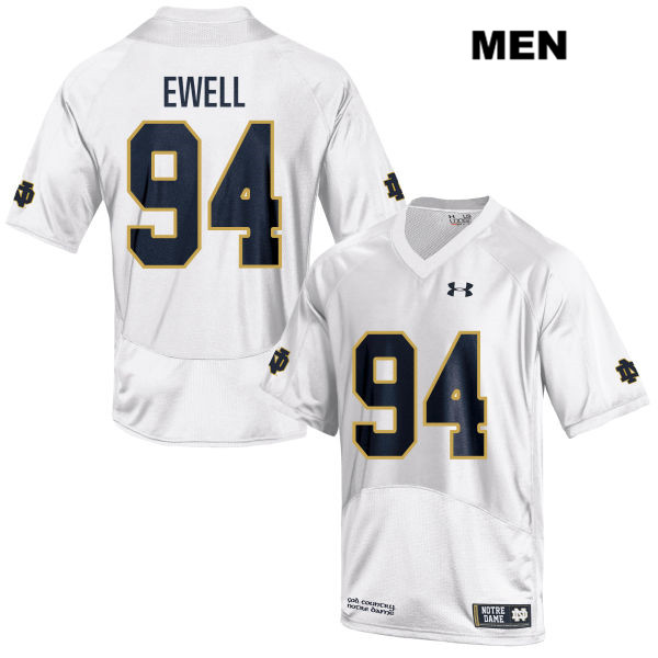 Under Armour Darnell Ewell Notre Dame Fighting Irish Stitched no. 94 Mens White Authentic College Football Jersey - With Name - Darnell Ewell Jersey