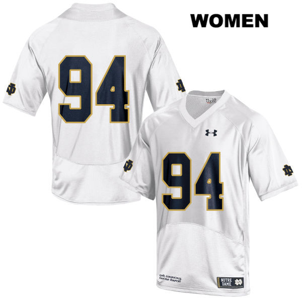 Darnell Ewell Under Armour Notre Dame Fighting Irish no. 94 Womens Stitched White Authentic College Football Jersey - Darnell Ewell Jersey