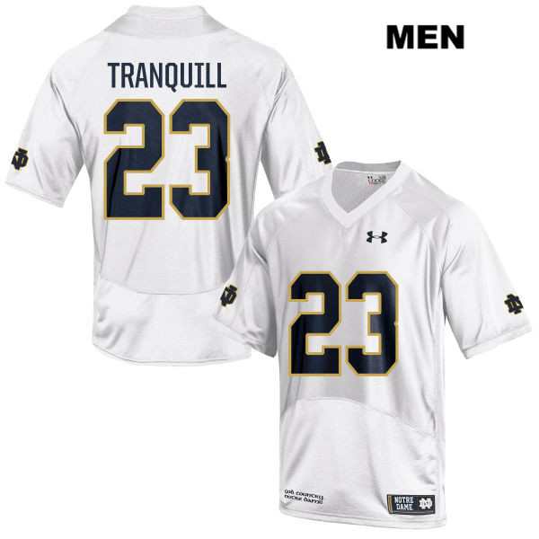 Drue Tranquill Notre Dame Fighting Irish no. 23 Under Armour Mens White Stitched Authentic College Football Jersey - With Name - Drue Tranquill Jersey