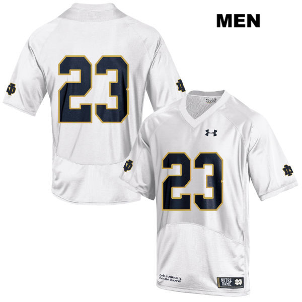 Drue Tranquill Under Armour Stitched Notre Dame Fighting Irish no. 23 Mens White Authentic College Football Jersey - Drue Tranquill Jersey