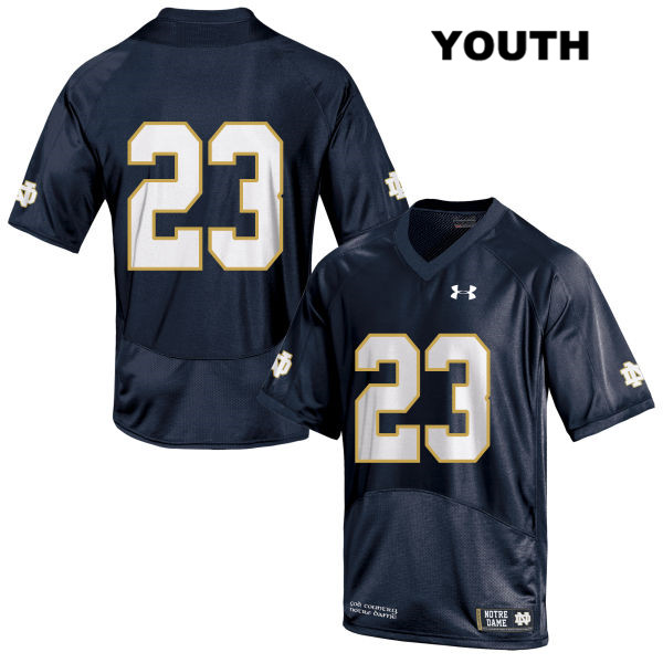 Under Armour Drue Tranquill Notre Dame Fighting Irish no. 23 Youth Stitched Navy Authentic College Football Jersey - Drue Tranquill Jersey