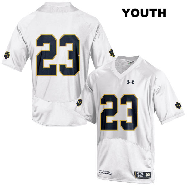 Drue Tranquill Under Armour Notre Dame Fighting Irish Stitched no. 23 Youth White Authentic College Football Jersey - Drue Tranquill Jersey