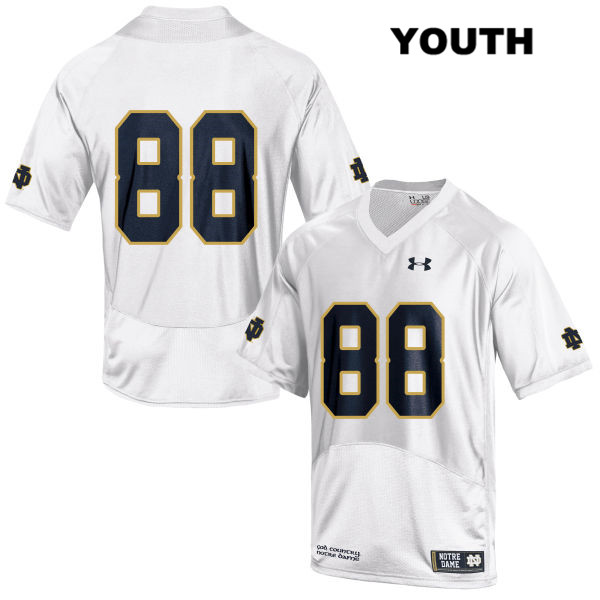 Under Armour Javon McKinley Notre Dame Fighting Irish Stitched no. 88 Youth White Authentic College Football Jersey