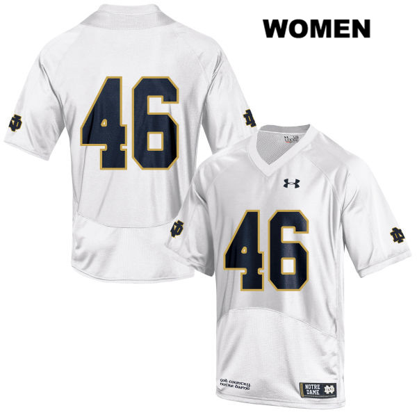 Stitched Jimmy Thompson Notre Dame Fighting Irish Under Armour no. 46 Womens White Authentic College Football Jersey