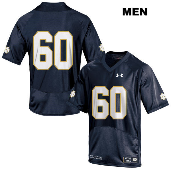 John Montelus Under Armour Notre Dame Fighting Irish no. 60 Mens Stitched Navy Authentic College Football Jersey - John Montelus Jersey