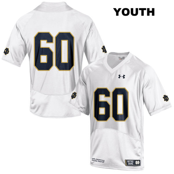 John Montelus Under Armour Notre Dame Fighting Irish Stitched no. 60 Youth White Authentic College Football Jersey - John Montelus Jersey