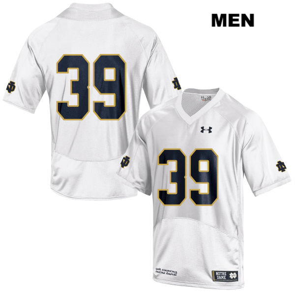 Jonathan Doerer Notre Dame Fighting Irish no. 39 Stitched Under Armour Mens White Authentic College Football Jersey - Jonathan Doerer Jersey