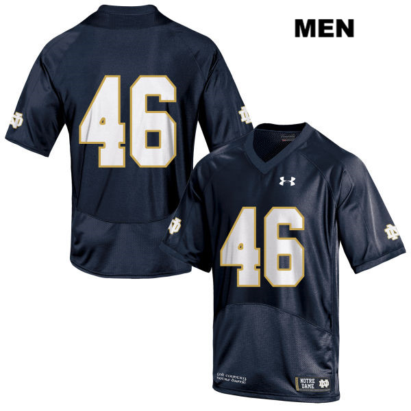 Josh Anderson Under Armour Notre Dame Fighting Irish no. 46 Mens Navy Stitched Authentic College Football Jersey - Josh Anderson Jersey