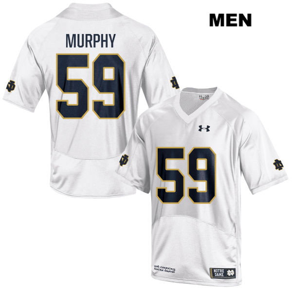 Kier Murphy Under Armour Notre Dame Fighting Irish Stitched no. 59 Mens White Authentic College Football Jersey - With Name - Kier Murphy Jersey