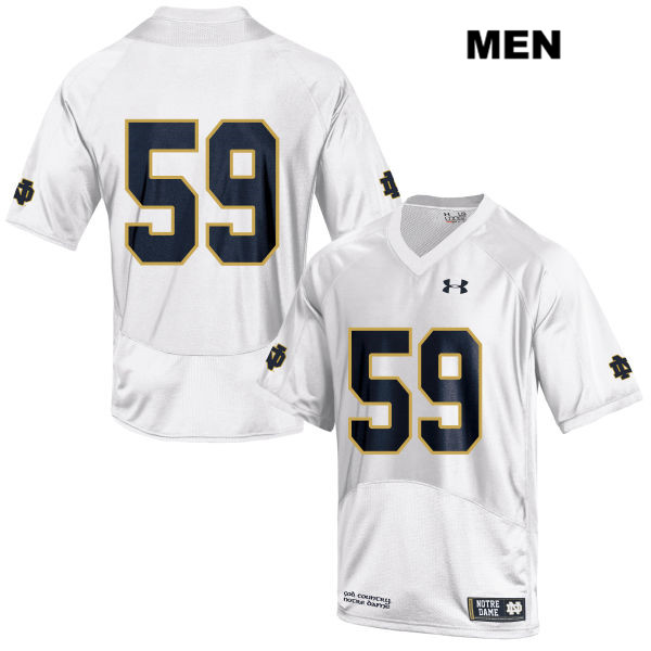 Kier Murphy Notre Dame Fighting Irish no. 59 Stitched Mens Under Armour White Authentic College Football Jersey - Kier Murphy Jersey