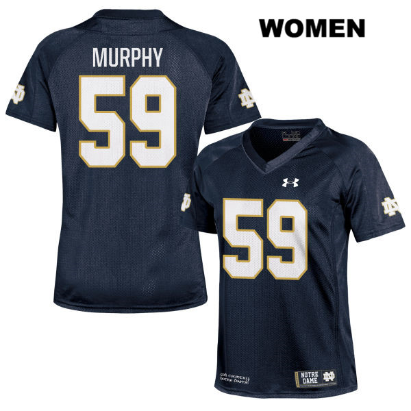 Under Armour Kier Murphy Notre Dame Fighting Irish no. 59 Womens Stitched Navy Authentic College Football Jersey - With Name - Kier Murphy Jersey
