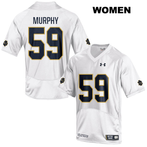 Kier Murphy Under Armour Notre Dame Fighting Irish Stitched no. 59 Womens White Authentic College Football Jersey - With Name - Kier Murphy Jersey