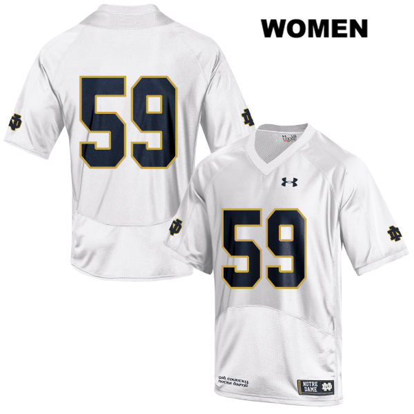 Kier Murphy Stitched Notre Dame Fighting Irish Under Armour no. 59 Womens White Authentic College Football Jersey - Kier Murphy Jersey
