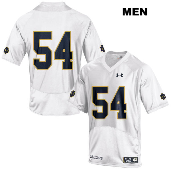Lincoln Feist Notre Dame Fighting Irish Stitched no. 54 Mens White Under Armour Authentic College Football Jersey