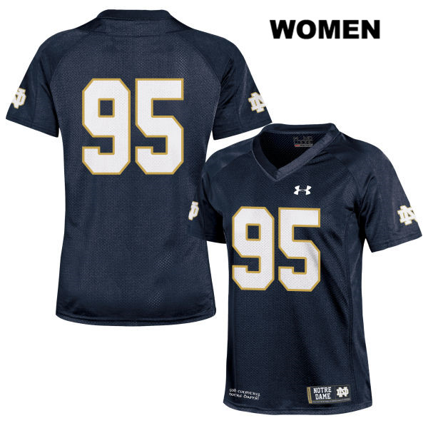 Marquis Dickerson Stitched Notre Dame Fighting Irish no. 95 Womens Under Armour Navy Authentic College Football Jersey - Marquis Dickerson Jersey
