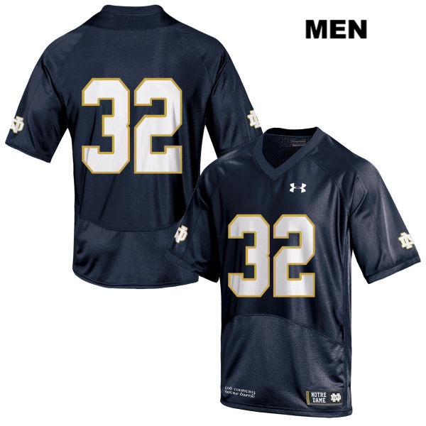 Patrick Pelini Stitched Notre Dame Fighting Irish Under Armour no. 32 Mens Navy Authentic College Football Jersey - No Name - Patrick Pelini Jersey