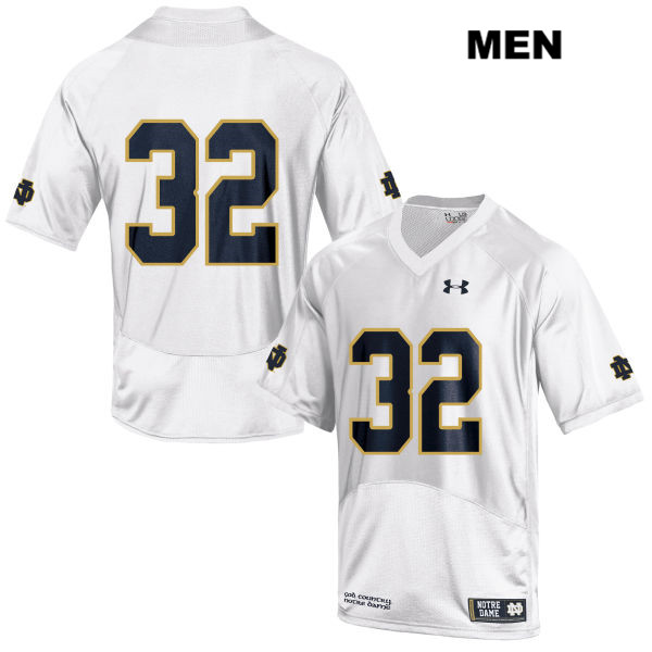 Patrick Pelini Under Armour Notre Dame Fighting Irish no. 32 Mens White Stitched Authentic College Football Jersey - No Name - Patrick Pelini Jersey