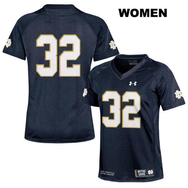 Under Armour Patrick Pelini Notre Dame Fighting Irish no. 32 Womens Navy Stitched Authentic College Football Jersey - No Name - Patrick Pelini Jersey