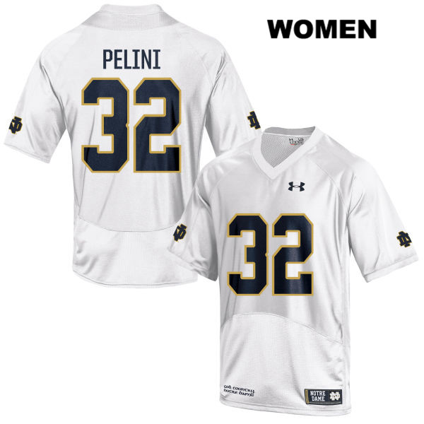 Patrick Pelini Notre Dame Fighting Irish Under Armour no. 32 Stitched Womens White Authentic College Football Jersey - Patrick Pelini Jersey