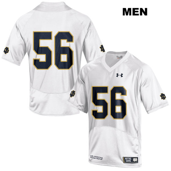 Quenton Nelson Notre Dame Fighting Irish no. 56 Mens Under Armour White Stitched Authentic College Football Jersey - Quenton Nelson Jersey