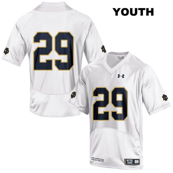 Sam Kohler Notre Dame Fighting Irish no. 29 Stitched Youth White Under Armour Authentic College Football Jersey - Sam Kohler Jersey