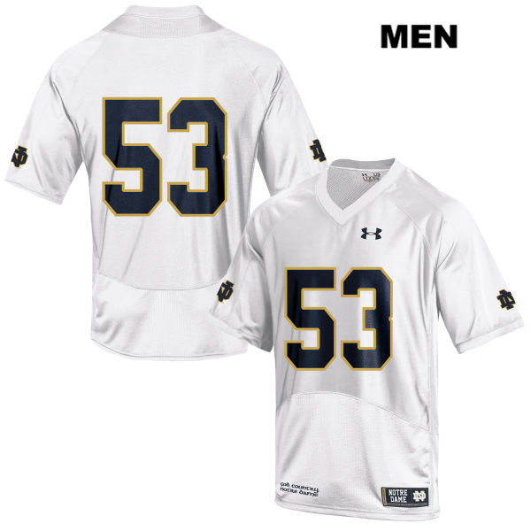 Sam Mustipher Notre Dame Fighting Irish Under Armour no. 53 Mens White Stitched Authentic College Football Jersey - Sam Mustipher Jersey