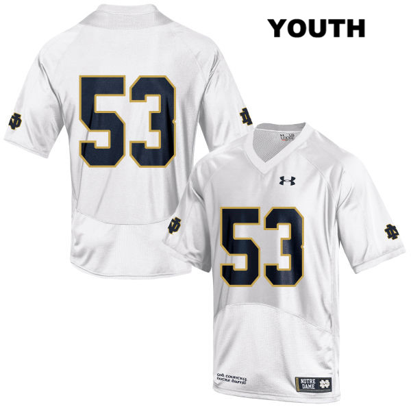 Sam Mustipher Notre Dame Fighting Irish Under Armour no. 53 Youth Stitched White Authentic College Football Jersey - Sam Mustipher Jersey