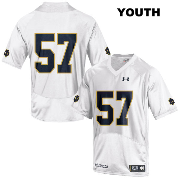 Trevor Ruhland Notre Dame Fighting Irish no. 57 Under Armour Stitched Youth White Authentic College Football Jersey - Trevor Ruhland Jersey