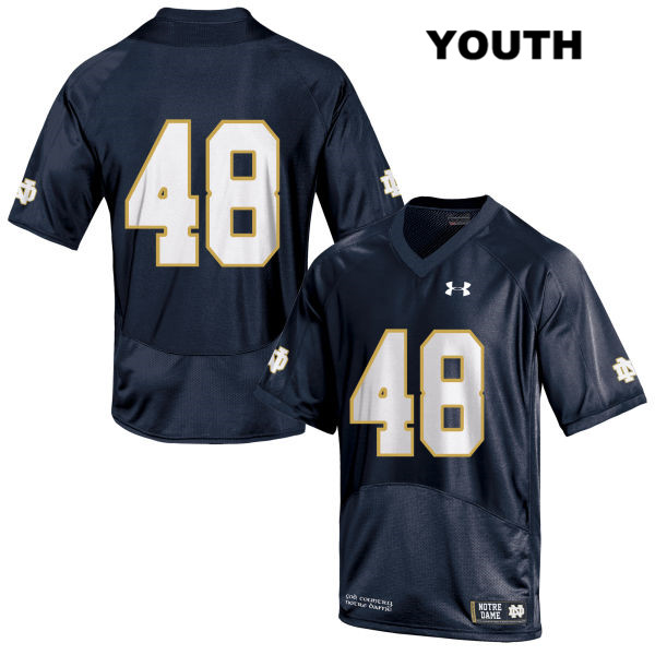 Xavier Lezynski Stitched Notre Dame Fighting Irish no. 48 Youth Under Armour Navy Authentic College Football Jersey - No Name - Xavier Lezynski Jersey
